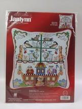 "2004 Janlynn Noah's Ark #023-0224 Christmas Cross Stitch Pillow Kit 9"" x 9"" - $19.80"