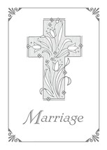 Certificates Marriage - 5 X7 Silver-Foil Embossing - 1 John 4: 17 - $12.71