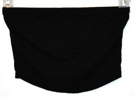 Boohoo Women's Black Crop Tube Boob Top Size 2