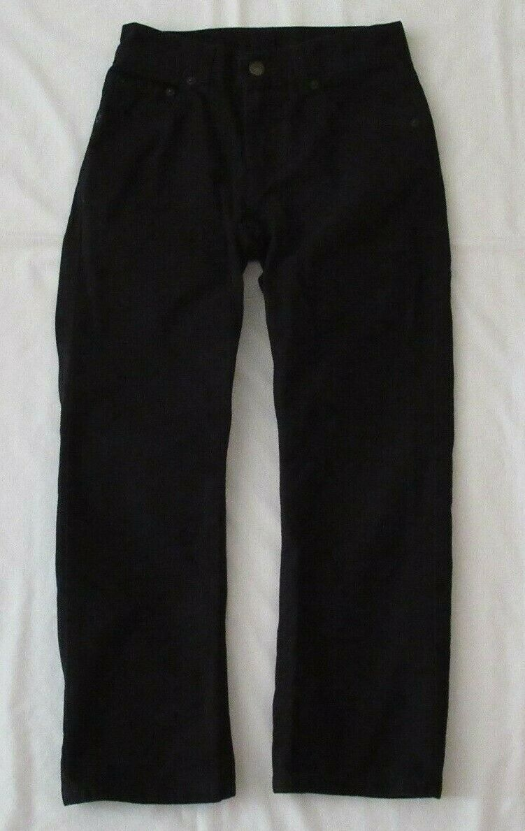 Boys Levis 505 Straight Black Denim Jeans Size 10 Reg Short! Brushed Cotton Warm image 2