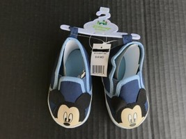 Disney Baby Mickey Mouse Baby Shoes Size 6-9 Months Blue NEW With Tags - $5.99