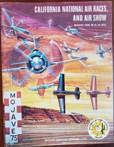 California National Air Races Air Show Mojave Jun 1975 Official Souvenir... - $19.95