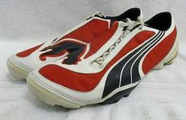 PUMA V1.08 Trainer Mens Soccer White Red Black Size 12 - $99.00