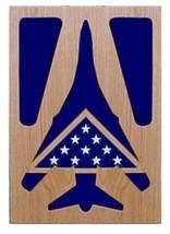 Air Force Rockwell B-1 Lancer Military Award Wood Shadow Box Medal Display Case - $360.99