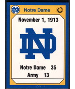 1990 Collegiate Collection Notre Dame #177 1913 Army NM Near Mint - $0.75