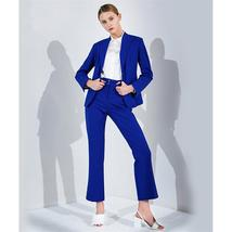 Fashionable Formal Royal Blue Tailored Business Work Wear 2 Piece Suit image 2