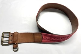 Rugby by Ralph Lauren Women Fabric/Leather Casual Belt (Brown) - $49.95