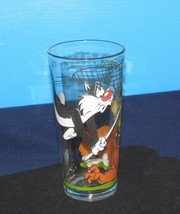 1976 GLASS SYLVESTER TWEETY BIRD & DOG WARNER BRO CARTOON PEPSI COLLECTO... - $12.38