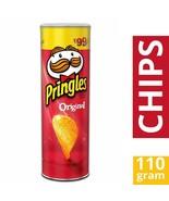 Pringles Original Flavour 110 grams 3.8 oz Vegetarian Potato Crisps Chip... - $9.25+