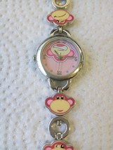 Accutime Time Watch Comic theme Teens Kids Pink color 7 Inches - $9.89