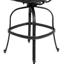 Outdoor bar stools set of 3 swivel patio aluminum furniture Elisabeth Bronze image 8