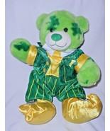 Build a Bear St Patricks Day Bear Outfit Green Clover Lucky Plush Stuffe... - $19.78
