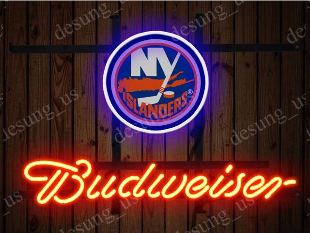"""New Budweiser New York Islanders Beer Neon Sign 19""""x15"""" Ship From USA"""