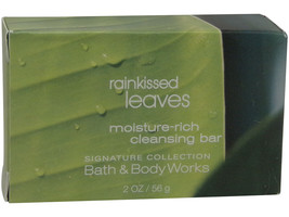 Bath and Body Works Rainkissed Leaves Soap lot of 5 each 2oz bars. Total... - $12.86