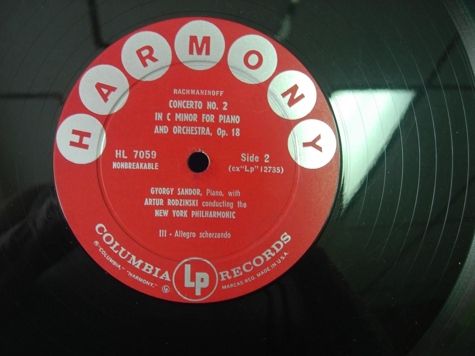 Gyorgy Sandor - Rachmaninoff Concerto No. 2 - Harmony HL 7059