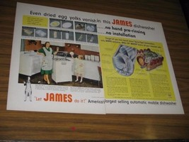 1953 Print Ad James Automatic Dishwashers Happy Mom & Daughter Independe... - $15.23