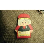 """20#8   Adorable Collectible Hand painted 6"""" Wooden Mrs. Santa Claus Figu... - $4.94"""