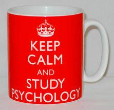 Keep Calm And Study Psychology Mug Can Personalise Great Student University Gift image 3