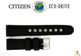 Citizen Eco-Drive BM8475-00X 22mm (LONG) Black Nylon Watch Band S064783 - $50.35