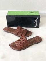 ✨New SAM EDELMAN Genovia Woven Leather Slide Sandals Brown Womens Size 10M $90 - $44.71