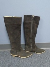 KORS MICHAEL KORS Chocolate Brown Suede Casual Mid Calf Boots Size 7 B4073 - $37.13