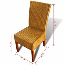 vidaXL 2/4/6x Dining Chair Rattan Brown Handwoven Kitchen Furniture Home Seat image 7