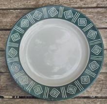 """Sakura Cypress Stoneware Dessert / Salad Plate 8 1/8"""" Vintage Dark Green... - $10.00"""