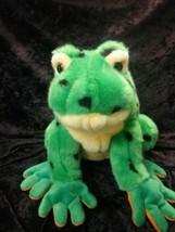 "10"" Ty Lilypad The Green Frog W/ Black Spots 2004  Stuffed Plush Animal - $3.99"