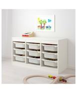 IKEA TROFAST Storage Combination With 9 boxes, White, White 292.284.70 -... - $169.99
