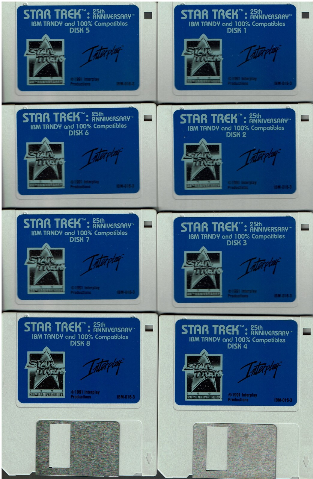 "Star Trek: 25th Anniversary, (for IBM,Tandy,DOS,or compatibles), on 3.5"" disks"
