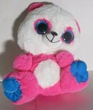 "11"" Six Flags Bear Pink Big Eyes Plush Stuffed Toy - $11.87"