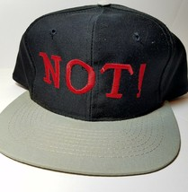 Vintage NOT!  Trucker  Snapback Hat Baseball cap black - $9.85