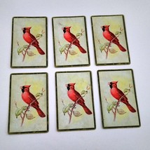 6 Cardinal Playing Cards for Crafting, Re-purpose, Up-cycle, Vintage Supplies, J image 1