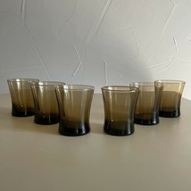 6 - Vintage Glassware Anchor Hocking Linden Low Ball Glasses Mid Century... - $38.61