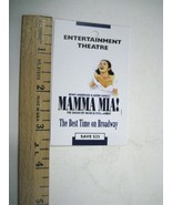 Mamma Mia Flyer ONLY 2005 Cadillac Winter Theatre ABBA Judy McLane Sarah... - $8.86