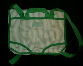 Vintage 1984 Original Cabbage Patch Kids Carry Diaper Bag Backpack Green & White - $22.21
