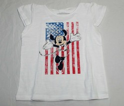 New Girls Baby Disney Minnie Mouse USA Shirt 12M thru 24M 4th July Memor... - $7.99