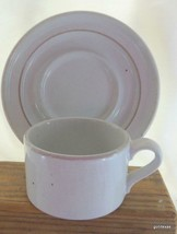 Vintage Dansk Cup and Saucer Japan Rare Ceramic Oatmeal Color - $11.88