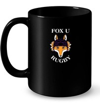 Fox U Rugby Ceramic Mug - $13.99+