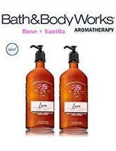 Bath And Body Works Aromatherapy Love - Rose & Vanilla Lot Of 2 Body Lotion - Fu - $23.50
