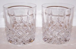 """STUNNING PAIR OF CRYSTAL CRISS-CROSS & VERTICAL CUT 3 5/8"""" OLD FASHIONED... - $34.64"""