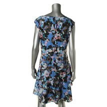 CeCe by Cynthia Steffe Womens Black Floral Print Casual Dress 10  image 2