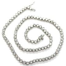 Necklace Tennis Silver 925, Zircon Cubic 4MM, 42CM, Mount Round image 1