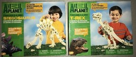 Animal Planet Foam Build a Dino Dinosaur Skeleton 2 Sets T-Rex and Stego... - $34.65