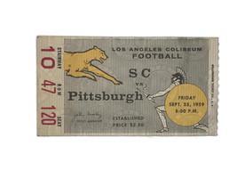 Vintage 1959 USC Southern California Trojans Pittsburgh Football Ticket ... - $32.68