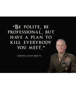 General James Mattis Poster USMC Poster 18x24 - £14.39 GBP