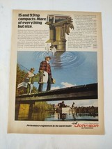 1975 Johnson Outboards Fishing Original Print Ad Advertisement  - $18.79