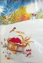 Embroidery Kit 2151 Apples in the Snow The Creative Circle   - $15.99