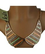 """New Lola Metal Abstract necklace 10"""" Drop - $16.44"""