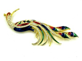 """Vintage Peacock Pin Jewelry 5.5""""  - $148.50"""